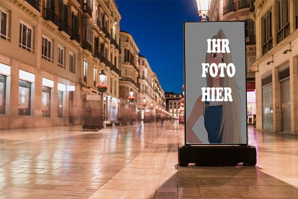 Alte Strasse Werbetafeln Bilderrahmen - Alte Strasse Werbetafeln Bilderrahmen