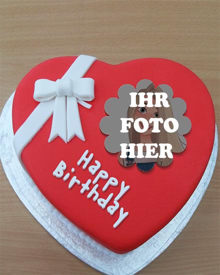 Bilderrahmen Fuer Roten Herzkuchen Zum Geburtstag - Bilderrahmen Für Roten Herzkuchen Zum Geburtstag