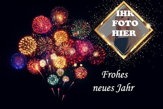 Bunt Neujahr Feuerwerk Bilderrahmen - Bunt Neujahr Feuerwerk Bilderrahmen