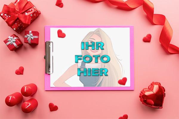 Das Geschenk Der Liebe Valentinstag Bilderrahmen - Das Geschenk Der Liebe Valentinstag Bilderrahmen