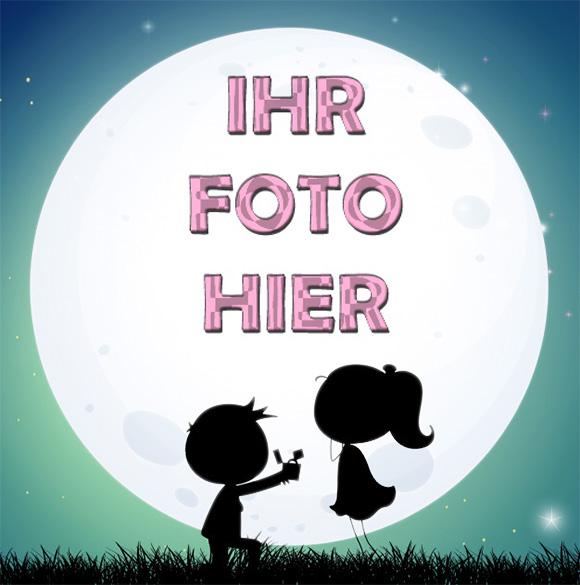 Der Romantische Mond Romantisch Bilderrahmen 1 - Bilderrahmen