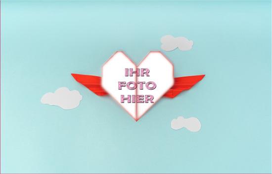 Fliegend Herz Romantisch Bilderrahmen - Fliegend Herz Romantisch Bilderrahmen
