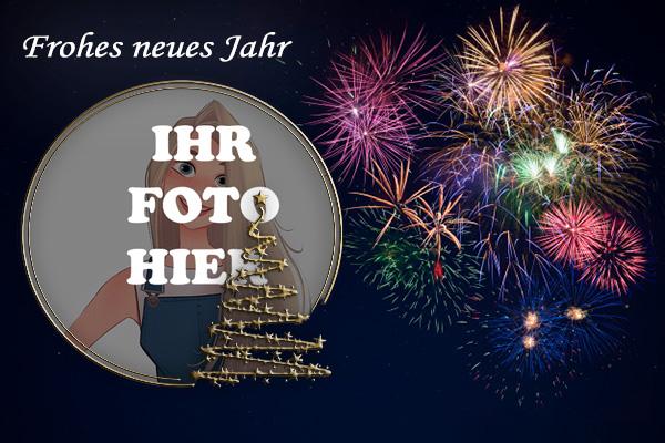 Frohes Neues Jahr Feuerwerk Bilderrahmen - Frohes Neues Jahr Feuerwerk Bilderrahmen