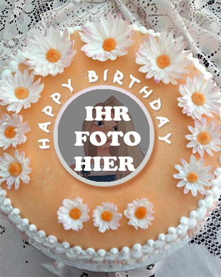 Geburtstag Karamell Kuchen Bilderrahmen - Geburtstag Karamell Kuchen Bilderrahmen