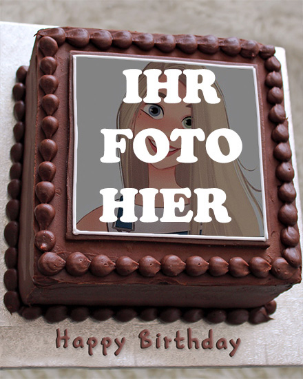 Geburtstag Schokoladenkuchen Bilderrahmen - Geburtstag Schokoladenkuchen Bilderrahmen