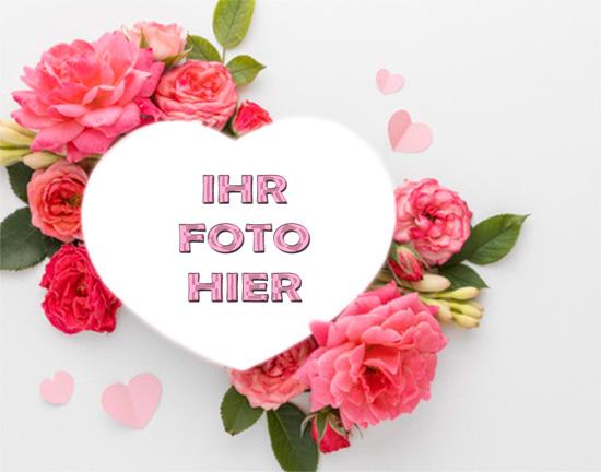 Herz Mit Rosen Romantisch Bilderrahmen - Herz Mit Rosen Romantisch Bilderrahmen