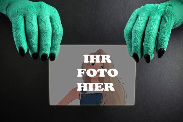 Hexen Hand Halloween Bilderrahmen - Hexen Hand Halloween Bilderrahmen