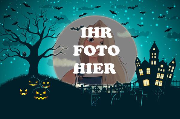 Horror Mondnacht Halloween Bilderrahmen - Horror Mondnacht Halloween Bilderrahmen