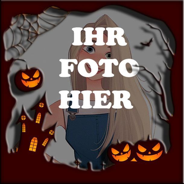 Horror haus Halloween Bilderrahmen - Horror haus Halloween Bilderrahmen