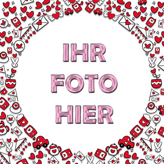 Liebe Kreis Romantisch Bilderrahmen - Liebe Kreis Romantisch Bilderrahmen