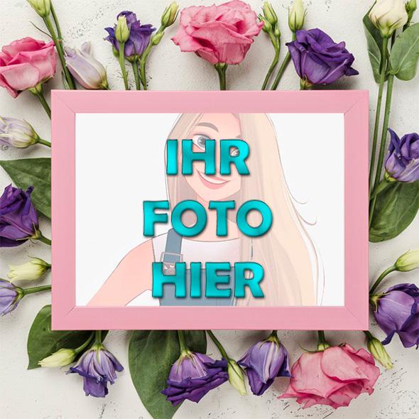 Liebling Blumen Romantisch Bilderrahmen - Liebling Blumen Romantisch Bilderrahmen