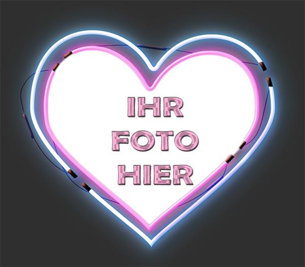 Mein Herz Beleuchtung Romantisch Bilderrahmen - Mein Herz Beleuchtung Romantisch Bilderrahmen