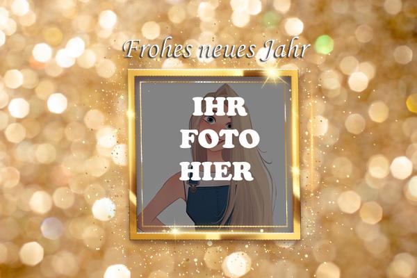 Neujahr Golden Bilderrahmen - Neujahr Golden Bilderrahmen