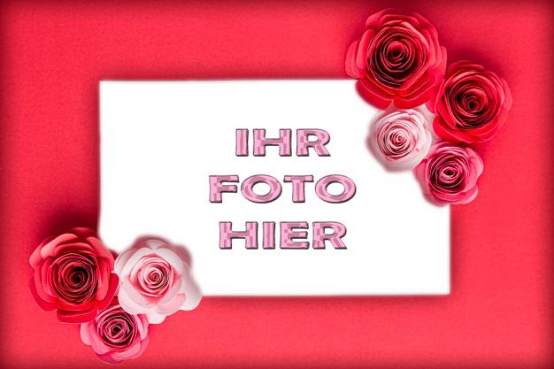 Romantisches Rot Romantisch Bilderrahmen - Romantisches Rot Romantisch Bilderrahmen