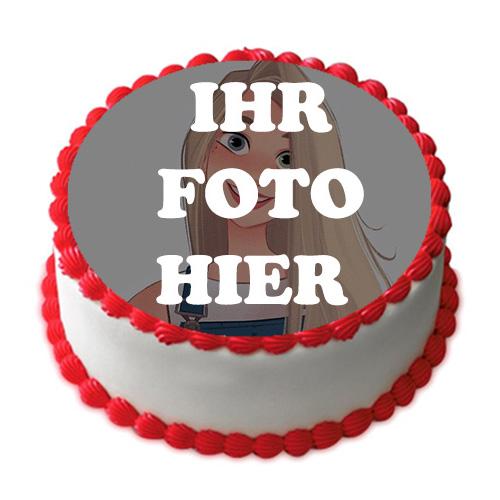 Weisse Sahne Torte Und Rote Herzen Bilderrahmen - Weiße Sahne Torte Und Rote Herzen Bilderrahmen