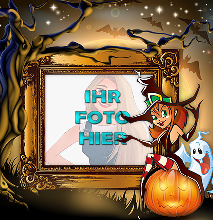 Halloween Bild Fotorahmen - Halloween Bild Fotorahmen