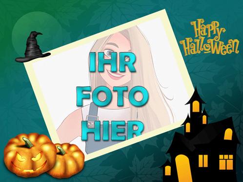 Sehr gruselig Halloween digitaler Rahmen fuer Foto - Sehr gruselig Halloween digitaler Rahmen für Foto