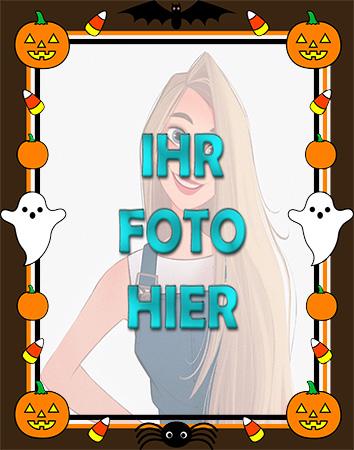 der Horror Halloween Rahmenkarte - der Horror Halloween Rahmenkarte